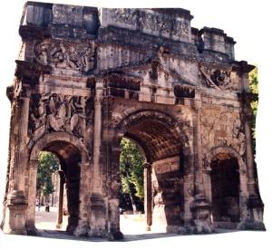 Roman triumphal arch, Orange, Provence