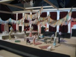 model of set for Act 2, Tatyana's party