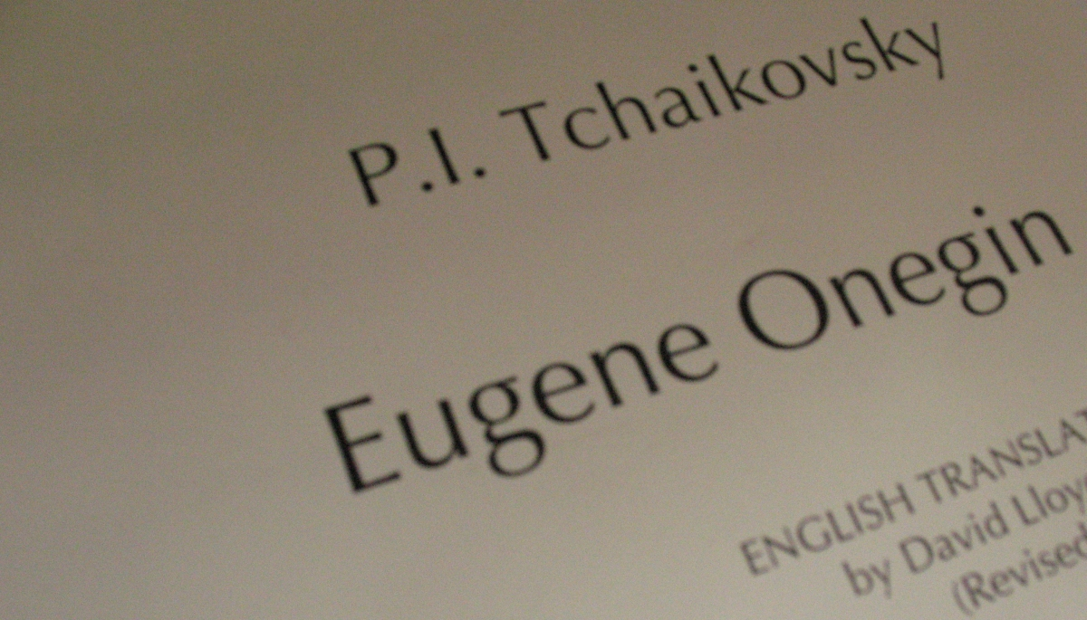 Eugene Onegin 2nd Production Rehearsal