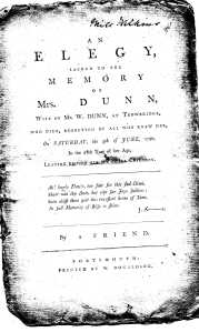 Title page of Elegy