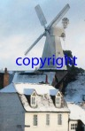 cranbrook windmill in snow detail  © Cherry Potts 2011