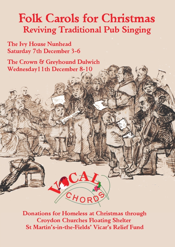 Vocal chords christmas flyer A5 front